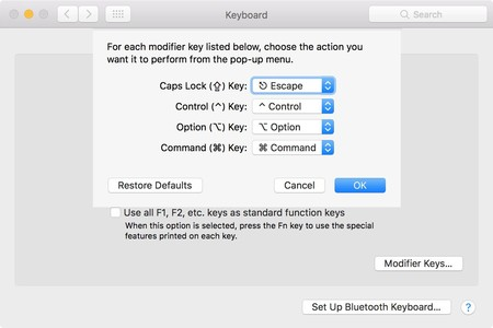 Remapping Escape Key To Caps Lock Key