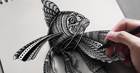 Tinta y papel: este artista no necesita más para lograr que sus alucinantes dibujos cobren vida