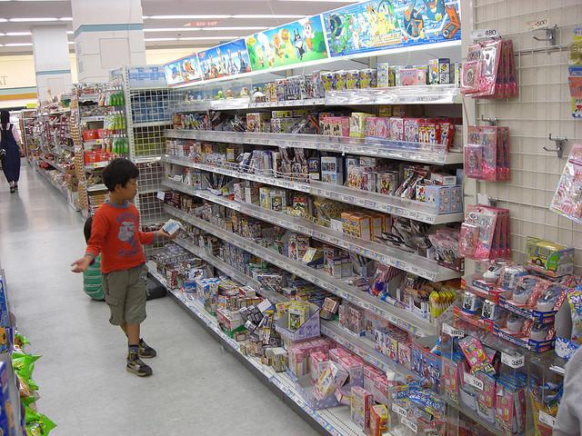 Comprando juguetes