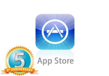 App Store festeja su quinto aniversario, y pone aplicaciones de pago en modo gratis