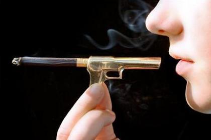 Boquilla pistola, porque fumar mata
