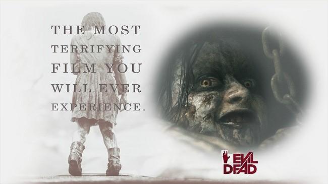 Imagen con un cartel de la película 'Posesión Infernal: Evil Dead'