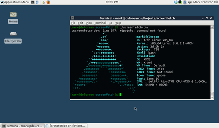 Arch Linux Screenshot By Cranstonide D5iqluz