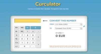 Curculator, sencillo conversor de divisas y calculadora online