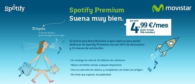 Movistar se alia con Spotify ofreciendo un 40% de descuento en cuentas Premium
