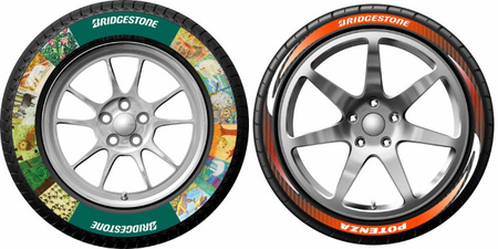 Bridgestone anuncia que lanzará neumáticos de colorines