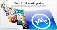 ¡Diez mil millones de gracias! Apple llega a una bonita cifra en la App Store
