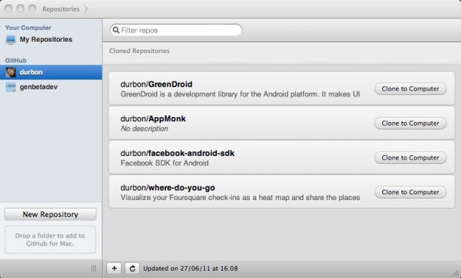 GitHub para Mac, aplicación de escritorio para manejar