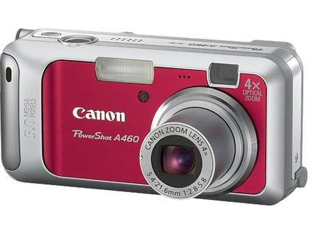 Nuevas PowerShot A550, A460 y A450 de Canon
