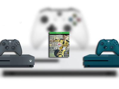 La Xbox One S se viste de navidad con los colores azul oceánico y gris tormenta para dos nuevos packs