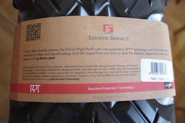Información de la funda G-Form Extreme Sleeve 2