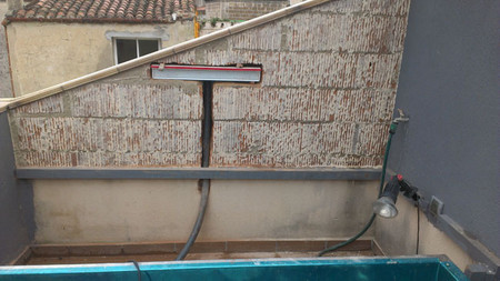 Ens anos tu casa la peque a pero impresionante terraza de edgar - Piscina en terraza peso maximo ...