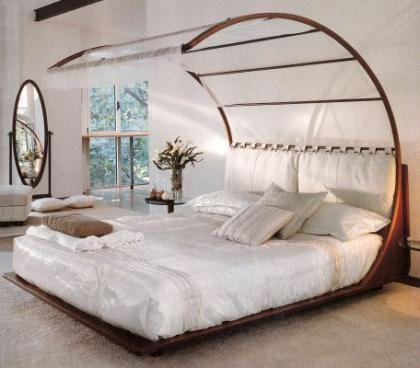 Una cama diseñada con las normas del Feng Shui