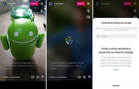 Emisiones en directo en Instagram sin vídeo
