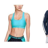 Ofertas en ropa deportiva de la marca Under Armour disponibles en Amazon: chaquetas, camisetas o sujetadores deportivos al mejor precio