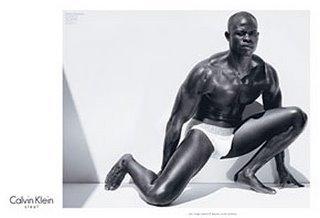 Imágenes de Djimon Hounsou para Calvin Klein