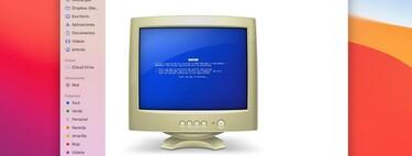 El troleo continúa: Apple insiste en usar un monitor CRT con una BSOD para identificar los PC con Windows en macOS Monterey