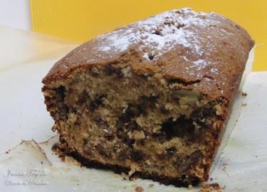 Plum cake de plátano, chocolate y nueces. Receta
