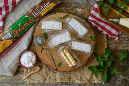 Mini Milhojas Tarta De Queso