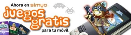 Simyo ofrece juegos gratis para el móvil