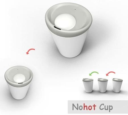 Nohot Cup, la taza que evitará que te quemes