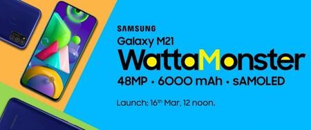 """La """"monstruosa"""" batería de 6.000 mAh del Samsung Galaxy M21 será oficial el 16 de marzo"""