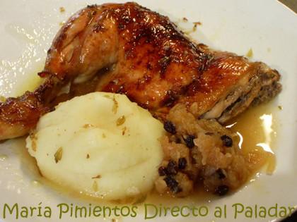 Pollo a la sidra con salsa de manzana. Receta