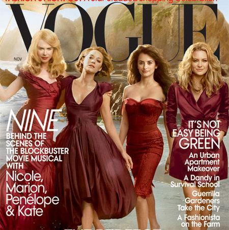 Penélope Cruz, Nicole Kidman, Kate Hudson y Marion Cotillard, cuatro divas portada de Vogue