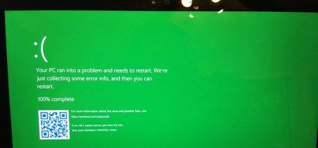 La legendaria pantalla azul de la muerte en Windows ahora será verde