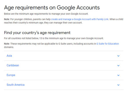 Google Requirements