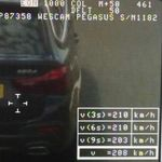 Cazado un conductor circulando a 208 km/h y acosando a otros conductores en la A-66, en Sevilla