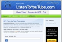 ListenToYouTube.com, extrae el audio de los vídeos de YouTube