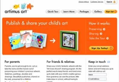 Artimus Art: comparte los dibujos de tus hijos en la red