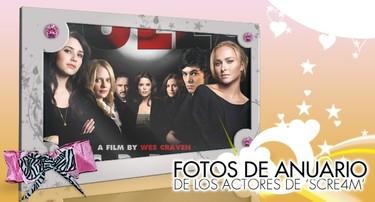 Especial fotos de anuario: Los actores de 'Scre4m'... gritemos...