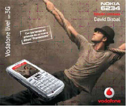 Móvil de David Bisbal:  Nokia 6234 Vodafone live! con 3G
