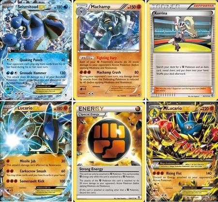 Cartas de Pokémon XY - Furious Fists