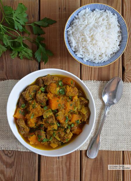 Curry Japones De Ternera Y Calabaza Con Manzana
