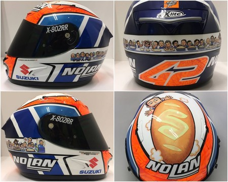 Alex Rins Casco Pretemporada 2018