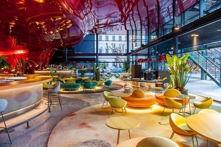 Restaurante NuBel, un espacio cosmopolita y con los círculos como protagonistas en el Museo Reina Sofía