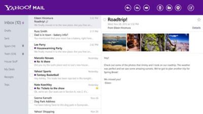 Yahoo, el ejemplo a seguir en las aplicaciones de Windows 8