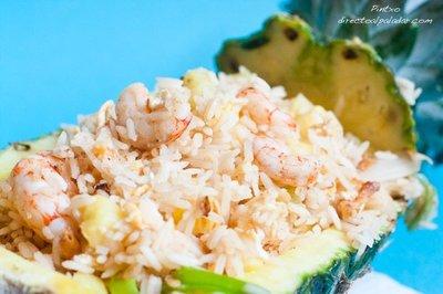 Receta de arroz con piña