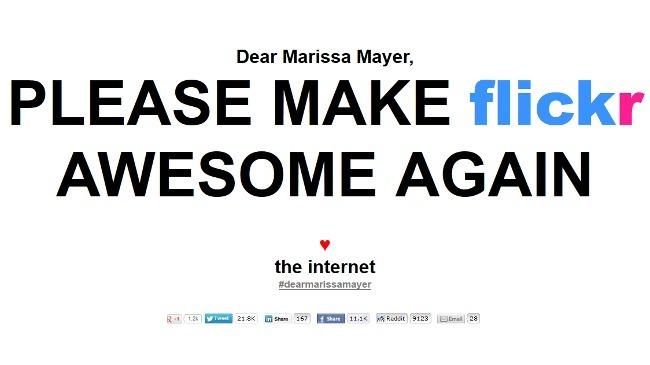 Le piden a Marissa Mayer que mejore Flickr...