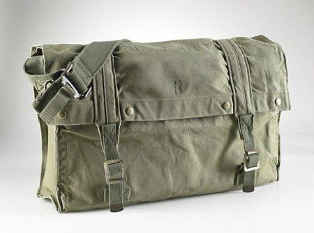 Bolsa messenger de Ralph Lauren, militar y vintage