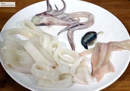Calamar Picado Cortado