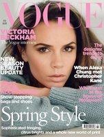 El look nude de Victoria Beckham para la edición de febrero de Vogue UK