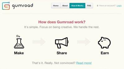 Gumroad, otra sencilla solución para vender contenido digital