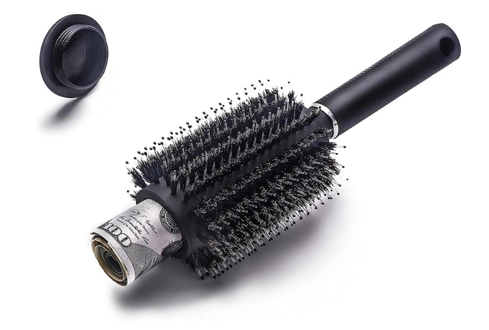 Cepillo de pelo peine desviación escondite seguro por charmonic, Stash Can, funciona como un auténtico Cepillo, perfecto para viajes o en casa (1 unidades) Marca: Charmonic