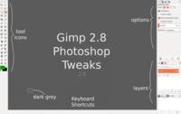 Truco Express: Usa Gimp 2.8 Photoshop Tweaks para trasnsformar GIMP 2.8.x al estilo de la interfaz de Photoshop
