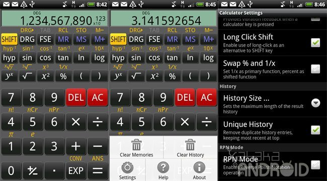 RealCalc: calculadora científica para Android