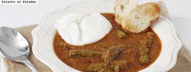 Receta de espárragos esparragados con huevo, receta tradicional jerezana